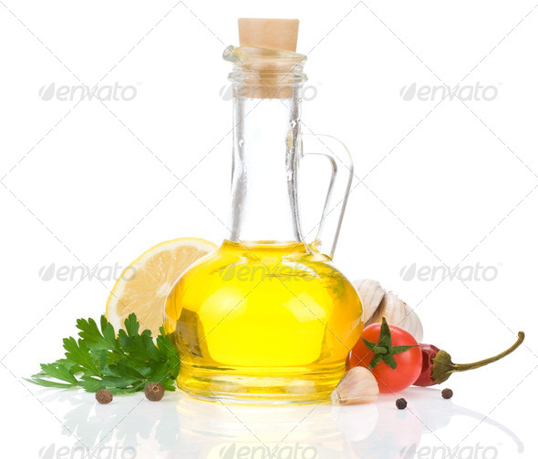 oil and food ingredients, spice - Stock Photo - Images