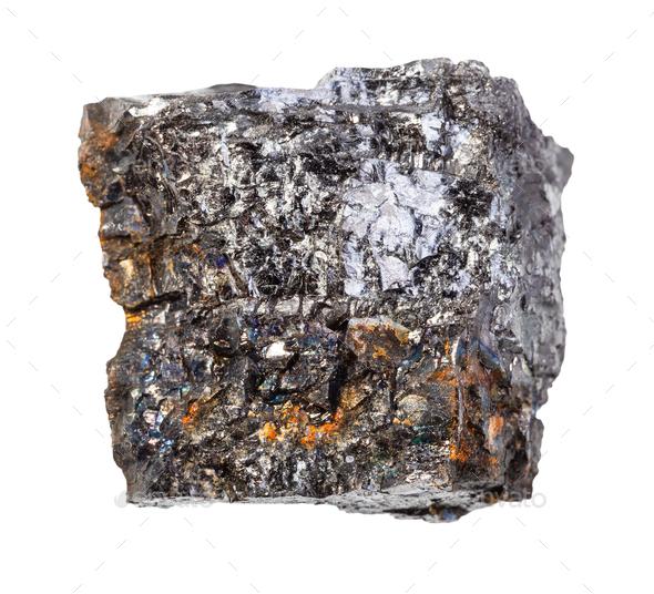 piece of Bituminous coal (black coal) rock - Stock Photo - Images