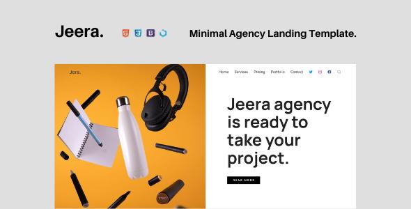 Jeera — Minimal Agency Landing Template