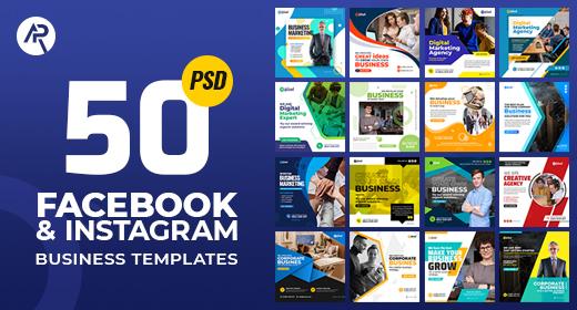 50-Facebook & Instagram Business Banners