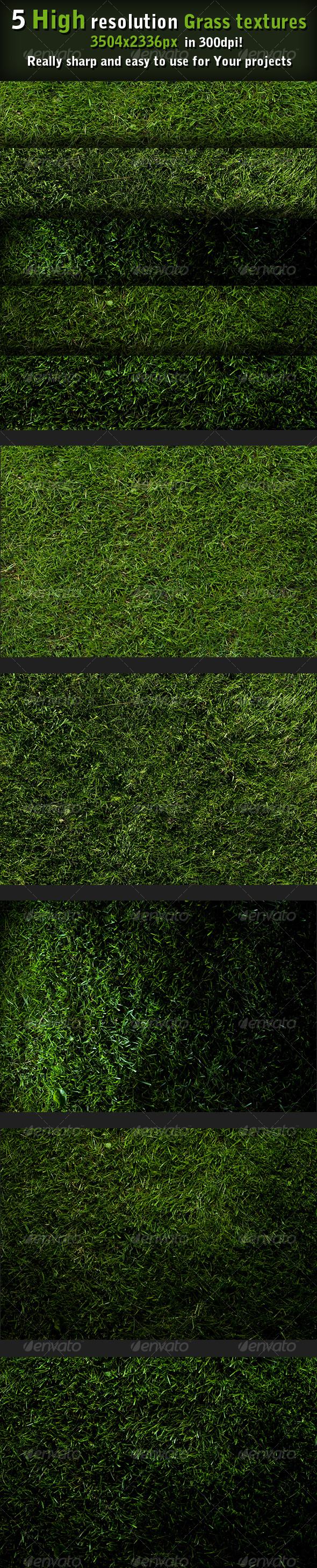 5 Grass textures high resolution - Nature Textures
