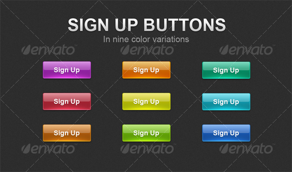 Sign Up buttons - Buttons Web Elements