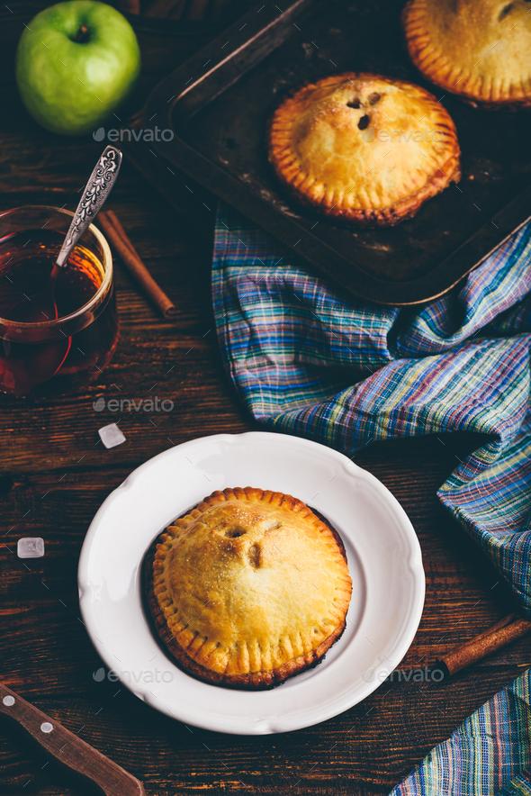 Homemade apple mini pies - Stock Photo - Images