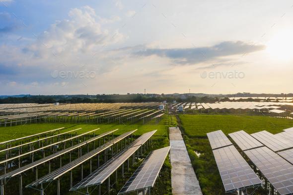 Solar power plant - Stock Photo - Images