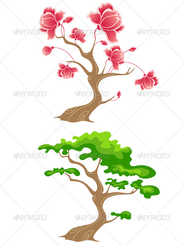 Green and Flowering Tree - Seasons Nature