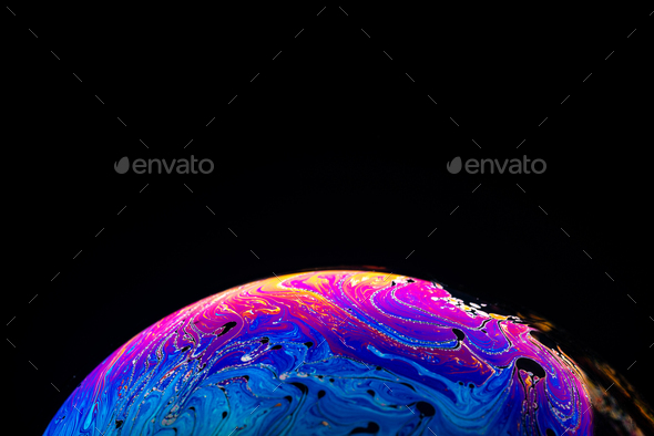 Abstract background made from soap bubble reflecting light - Stock Photo - Images