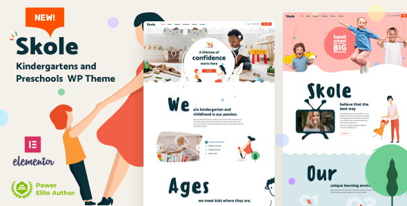 Skole – School Kindergarten WordPress Elementor