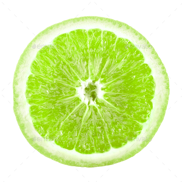Lime slice - Stock Photo - Images