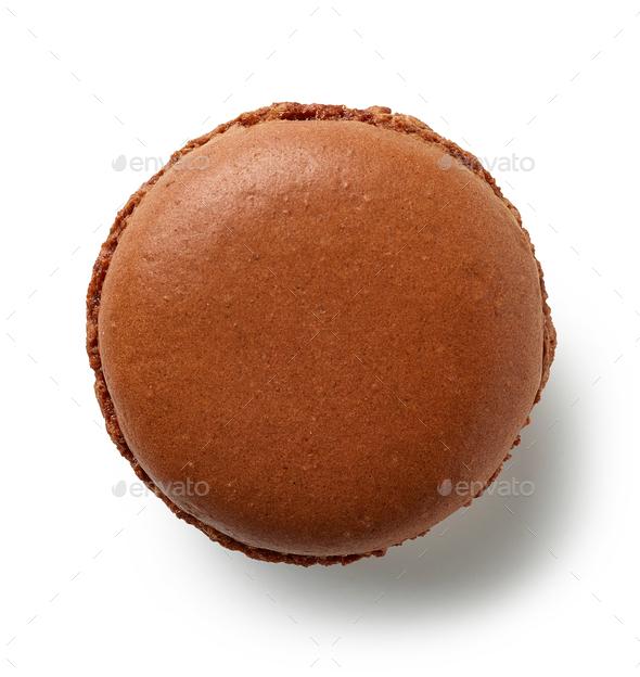 brown chocolate macaroon - Stock Photo - Images