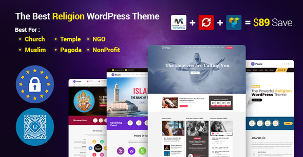 Peace - Church / Muslims / Temple WordPress Theme