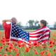 Couple holding the american flag on the 4th of July - PhotoDune Item for Sale