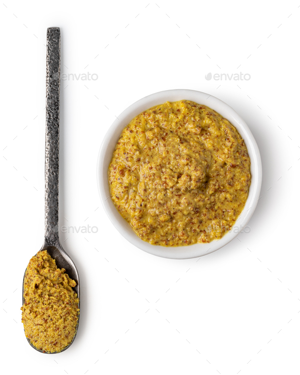 Bowl with mustard - Stock Photo - Images