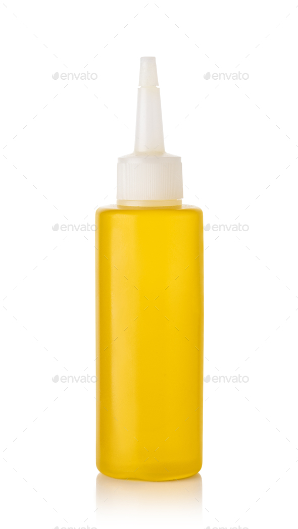 Olive oil in a bottle - Stock Photo - Images