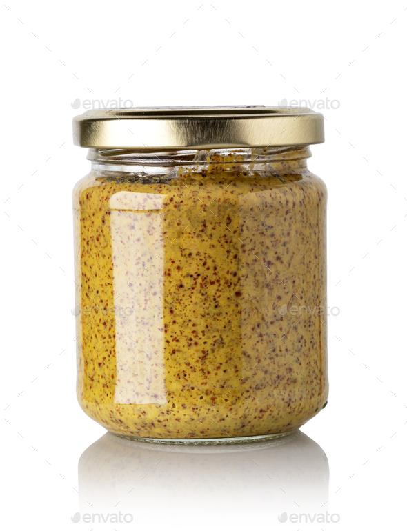 jar of mustard - Stock Photo - Images