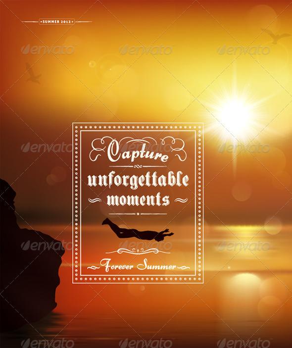 Capture unforgettable moments, creative graphic m - Decorative Vectors