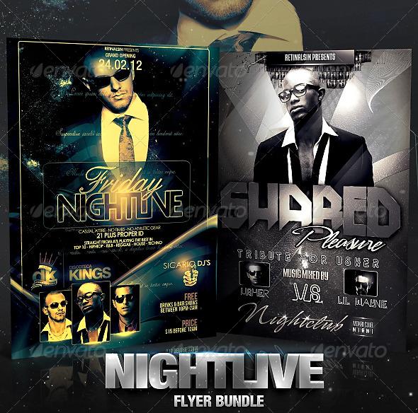 Nightlive Flyer Bundle - Flyers Print Templates