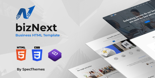 bizNext - Corporate Business Template