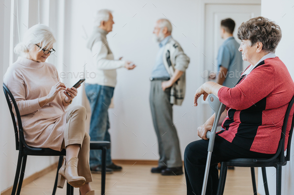 Patient waiting in a clinic - Stock Photo - Images
