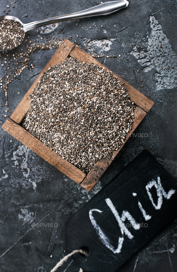 chia seed - Stock Photo - Images