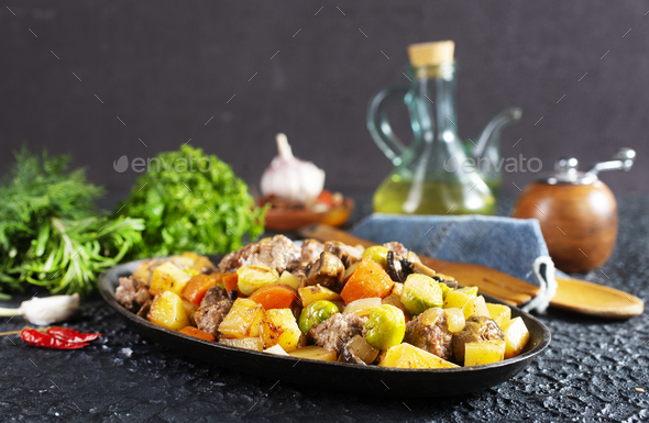 vegetabkes with meatballs - Stock Photo - Images