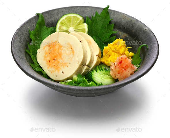 ankimo, steamed monkfish liver, japanese cuisine - Stock Photo - Images