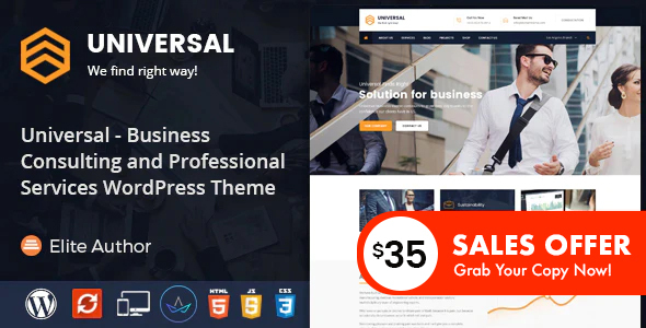 Universal - Business Consulting and Professional Services WordPress Theme