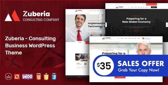 Zuberia - Business Consulting Services WordPress Theme