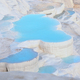 Travertine terraces with blue water in Pamukkale - PhotoDune Item for Sale