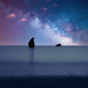 Galaxy & Milky Way Over A Beach 3 - PhotoDune Item for Sale