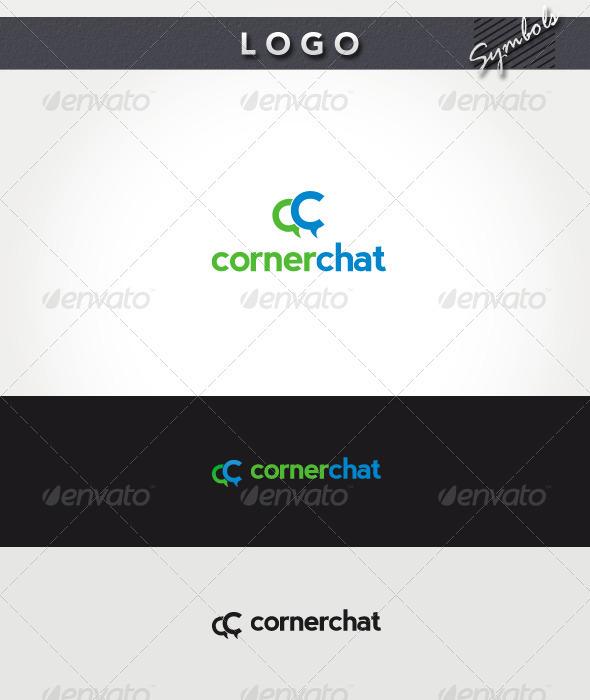 Corner Chat Logo - Symbols Logo Templates