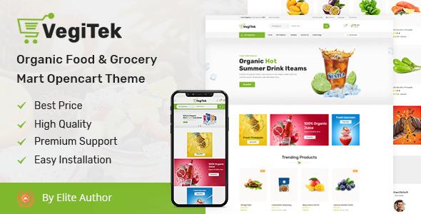 Vegitek – Organic Food & Grocery Mart Opencart Theme