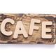 wooden coffee letters at signboard or nameplate - PhotoDune Item for Sale