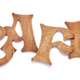 wooden cafe letters on white background - PhotoDune Item for Sale