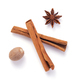 cinnamon stick, anise star and nutmeg on white background - PhotoDune Item for Sale