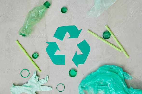 Recycling different garbage - Stock Photo - Images