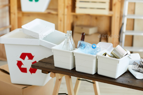Sorted waste on the table - Stock Photo - Images