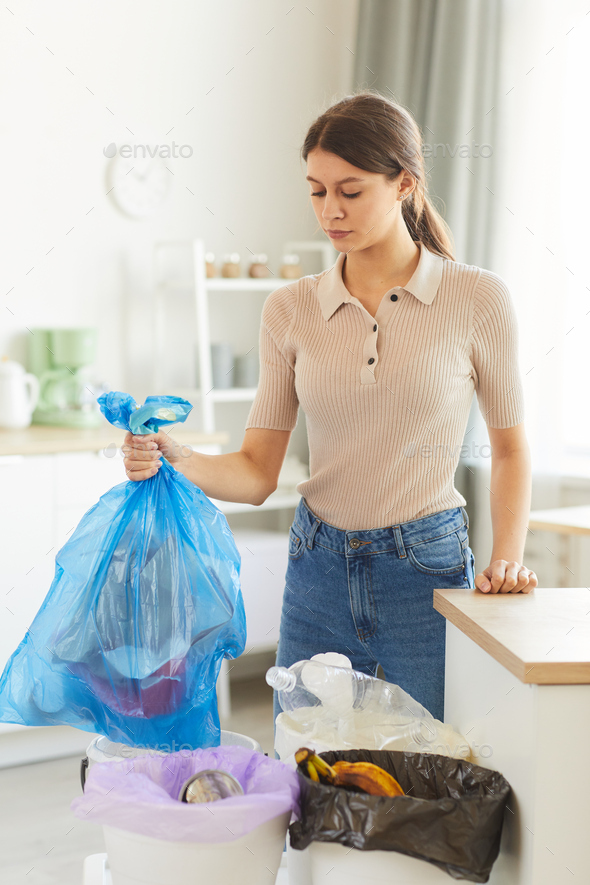 Woman doing housework at home - Stock Photo - Images