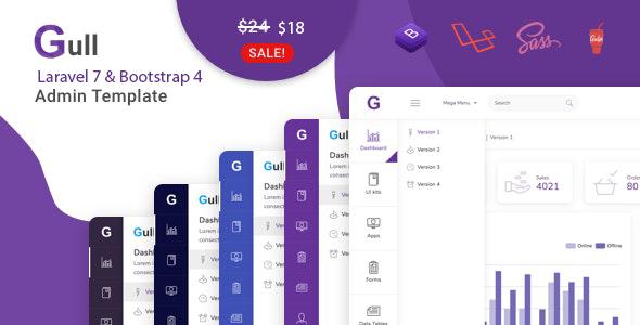 Gull - Laravel 7 & Bootstrap 4 HTML Admin Dashboard Template