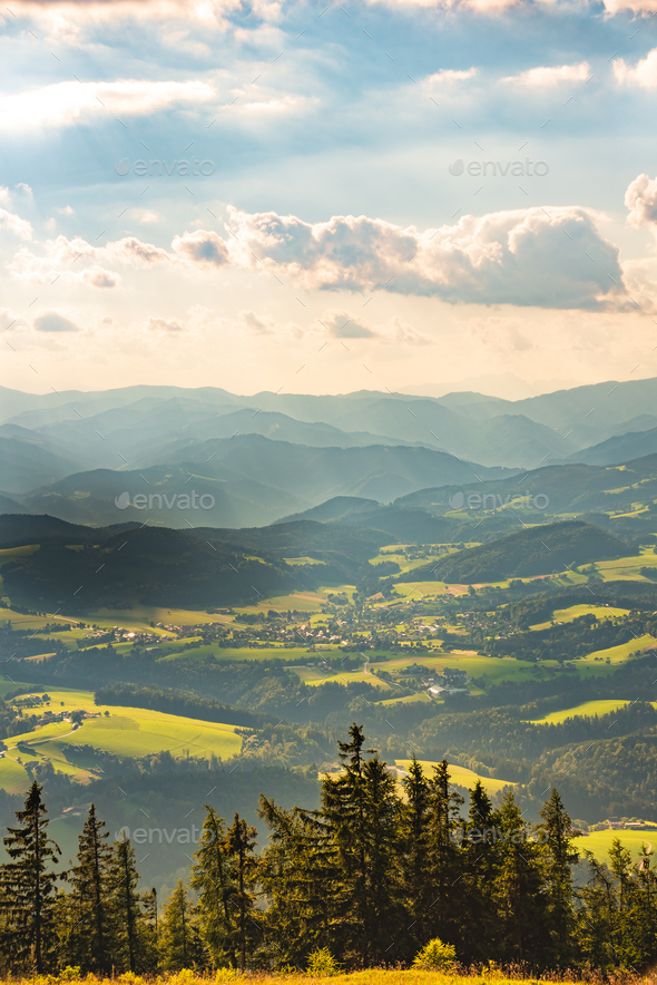 View from Shockl mountain in Graz. Tourist spot in Graz - Stock Photo - Images