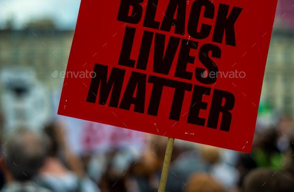 Black Lives Matter Protest - Stock Photo - Images