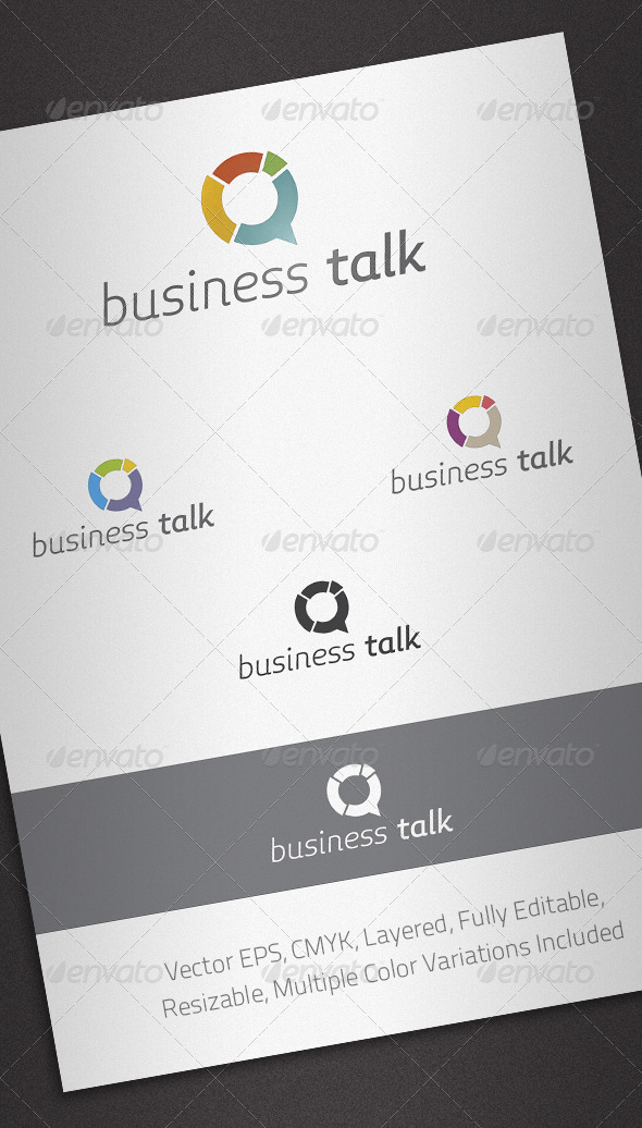 Business Talk Logo Template - Abstract Logo Templates