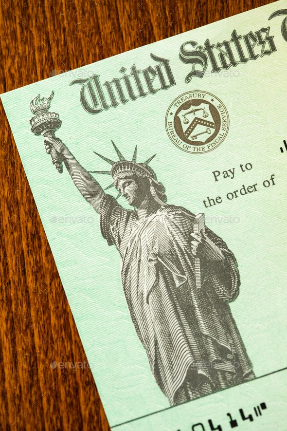 United States Internal Revenue Service, IRS, Check On Desk - Stock Photo - Images