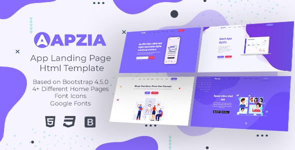 Apzia - App Landing Page HTML Template