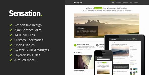 Sensation – Responsive HTML Template