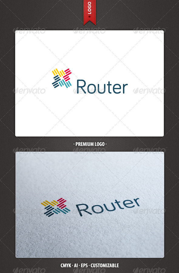 Router - Abstract Logo Template - Abstract Logo Templates