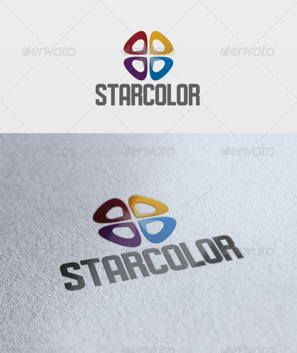 Star Color Logo - Vector Abstract