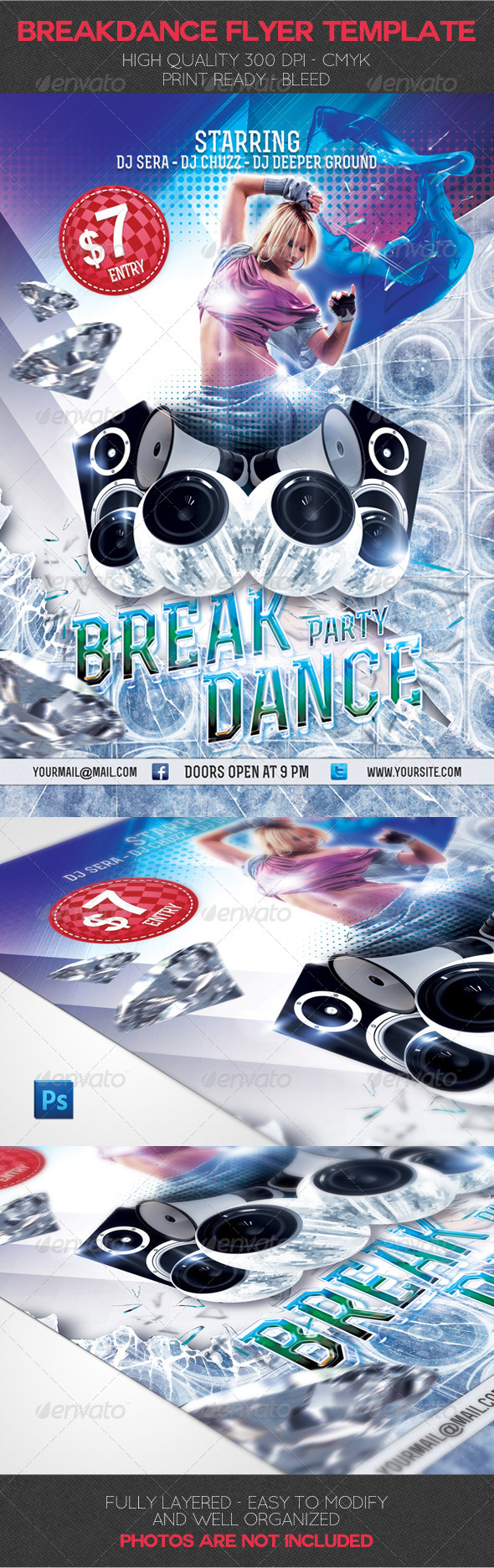 Breakdance Party Flyer Template - Events Flyers
