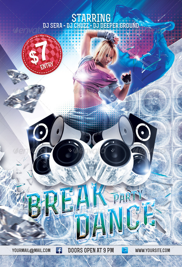 Breakdance Party Flyer Template
