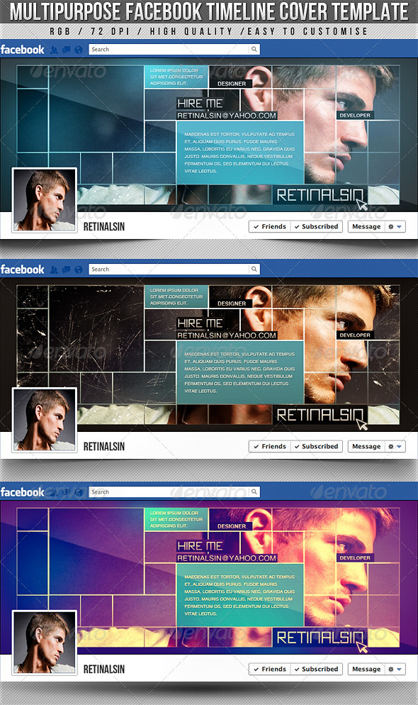 Multipurpose Facebook Timeline Cover - Facebook Timeline Covers Social Media
