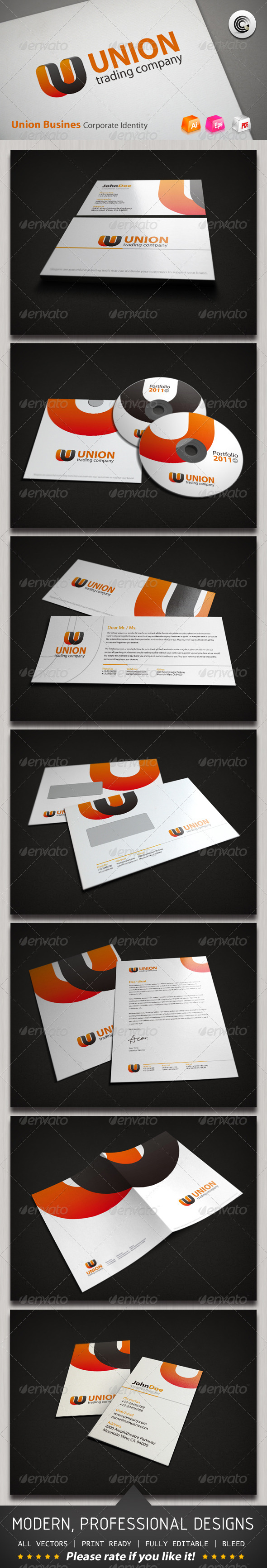 Union Busines Corporate Identity - Stationery Print Templates